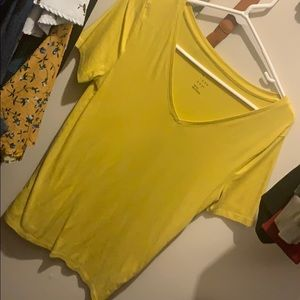 Yellow a new day v neck